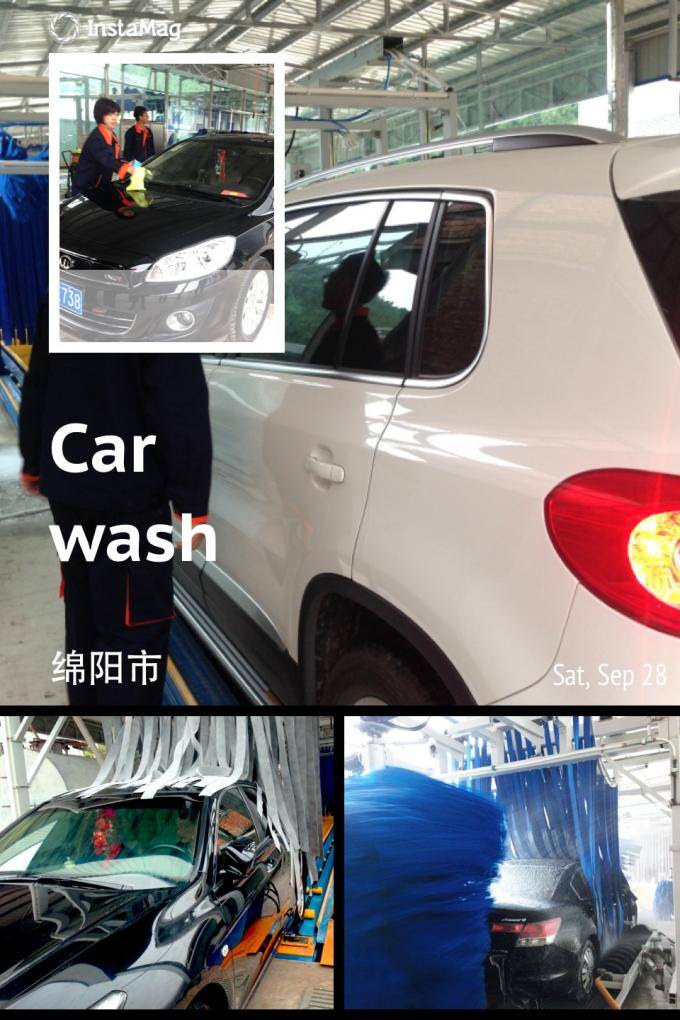 Autobase Tunnel Car Wash System Effective Comfortable For Wrap Cleaning