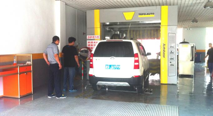 Fast Tunnel Car Washing Machine TEPO-AUTO With High Efficiency